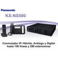 Conmutador Panasonic KX-NS500 6 líneas y 18 extensiones IP SIP Análogo Digital (máx 190lin y 288ext)