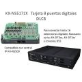 Tarjeta 8 Extensiones digitales DLC8 KX-NS5171X para KX-NS500