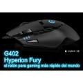 Mouse Logitech G402 el más rápido del mundo 8 botones USB